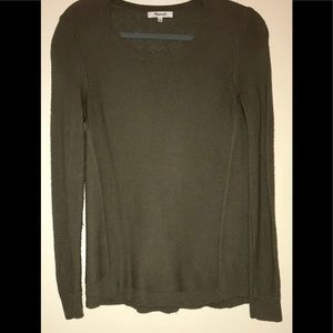 Made well cotton/poly mix olive sweater. XS